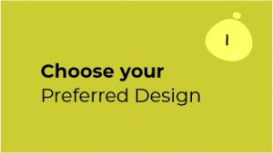 Digital Business Card in Making Step 1 Choose your Design