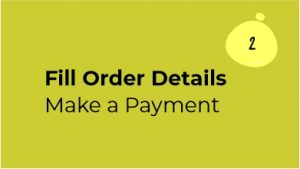 Digital Business Card in Making Step 2 Fill order details