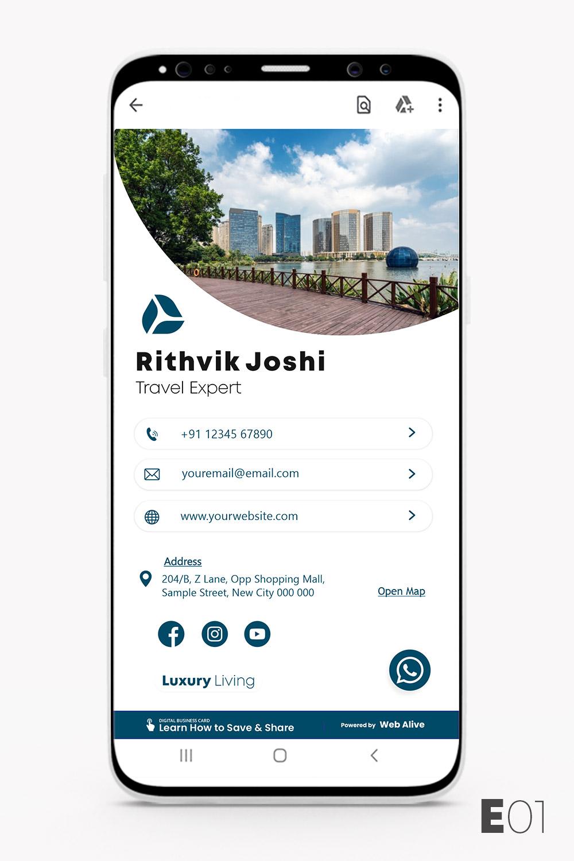E01 Digital Business Card