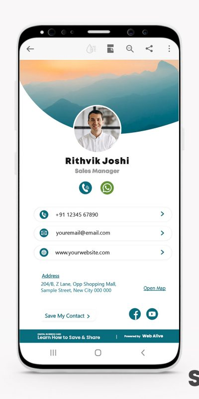 Digital Business Card for Professionals and freelancers